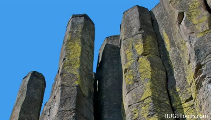 six-sided basalt columns
